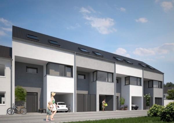 Schicke Einfamilien-Reihenhäuser im Bauhausstil mit moderner Ausstattung